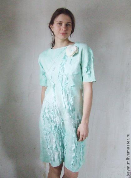 Платье в техники валяния