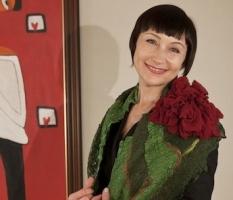 Видео мастер класс по валянию шарфа Цветок Алёны Арт