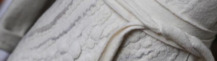 Диана Нагорная. 22-23 марта Элегантное пальто с элементами шибори.