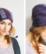 шапка цвета баклажан