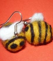 Серьги-пчёлки