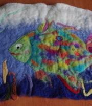 картина шерстяная Рыба