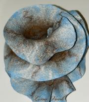 Войлочный шарф-капустка