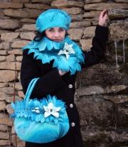 комплект сумка шарф и берет