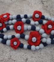 Квітчастий шарф-намисто