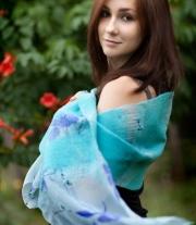 Нуно-войлочный шарф