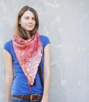 Валяный шарф-бактус