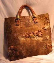 Валяная сумка-папка и кошелек