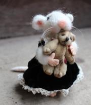 Мышка и мишка мастера Протасова Наталия