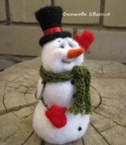 снеговик мастера Фатеева Евгения