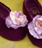 Тапочки женские Розы бордо