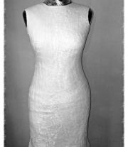 Платье шерсть и шелк белое