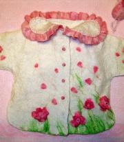 Пальтишко для новорожденной принцессы от 0 дол 6 мес. мастера Ковтуненко