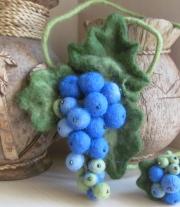 Подвеска - виноград мастера Татьяна
