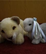 Львенок и зайчик