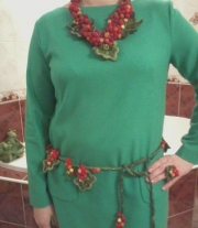 комплект-смородина(ожерелье,пояс,кольцо) мастера Татьяна