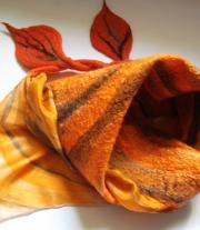 Валяный шарф / платок  -