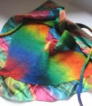 Валяный шарф / платок / бактус
