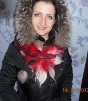 Капустный шарфик Двусторонний. мастера Наухатько Ольга Федоровна