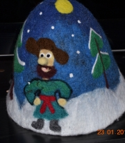 Банная шапка