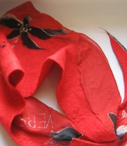 Валяный шарф платок бактус