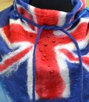 Бактус с изображением британского флага