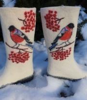 валенки женские снегири