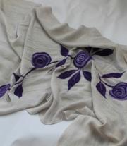 шаль – Сиреневые розы