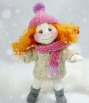 Зимний рыжий ангелочек