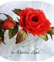 Веточка из 5 роз -