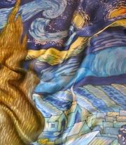 Платок шелковый в технике батик