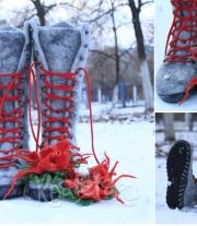 Валенки ботинки женские