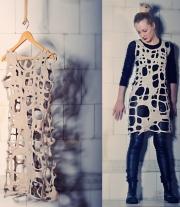Валяное платье-туника