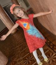 Валяное платье Перо Жар-птицы