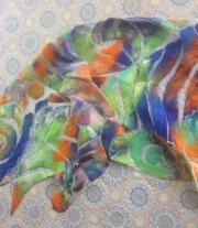 шарф валянный на шелке