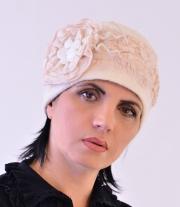 Шляпка валяная из натуральной шерсти