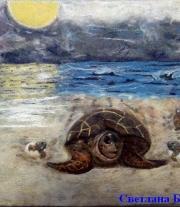 Картина Черепаха и море