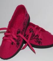 Валяные демисезонные детские туфельки