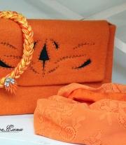 Клатч валяный Оранжевое счастье