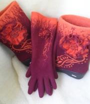 Валяные перчатки