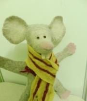 Игрушка ручной работы на руку Мышка, игрушка бибабо (BIBABO)