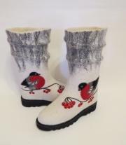 Сапоги валяные ′Снегири′