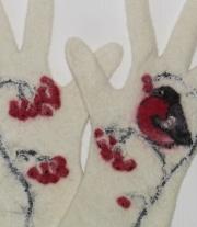 Валяные перчатки ′Снегири′