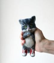 Котёнок в кедах.