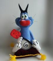 Интерьерная игрушка Огги Oggy.Валяние.