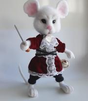 Мышь Соня Алиса в стране чудес валяная игрушка