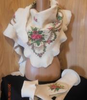 Валяные  платок и рукавички