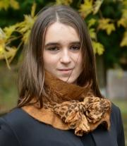 Шарф валяний коричневий