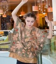 Блуза шелковая валяная с эко крашением