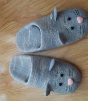 домашние тапочки-коты